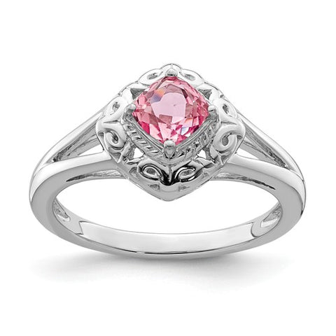925 Sterling Silver Genuine Pink Tourmaline Ring - Cailin's
