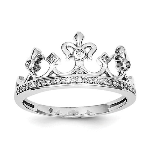 925 Sterling Silver diamond Crown Ring - Cailin's