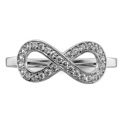 925 Sterling Silver Infinity CZ Ring - Cailin's
