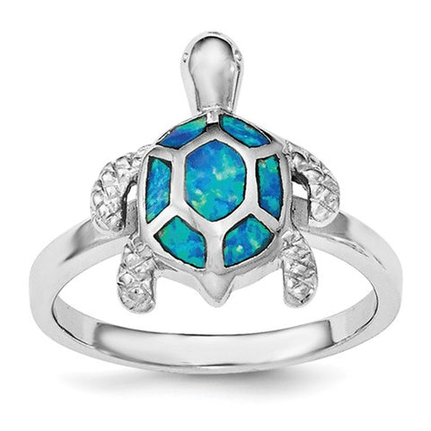 925 Sterling Silver Opal Sea Turtle Ring - Cailin's