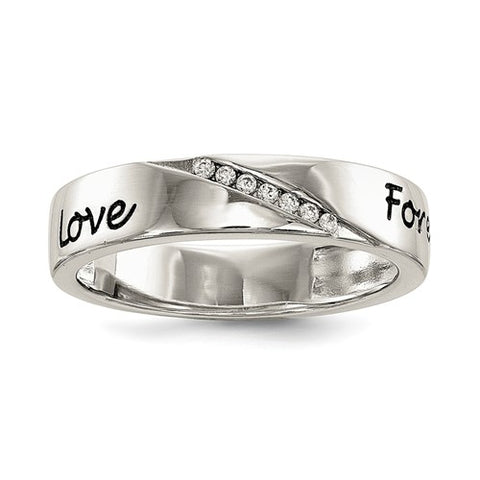 925 Sterling Silver CZ Love Forever Ring - Cailin's