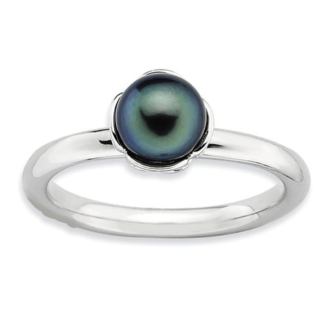 925 Sterling Silver Black Pearl Ring - Cailin's