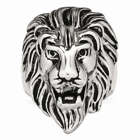Stainless Steel Vintage Lion King Ring - Cailin's