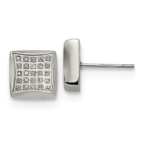 Stainless Steel 0.25CT diamond Post Earrings - Cailin's