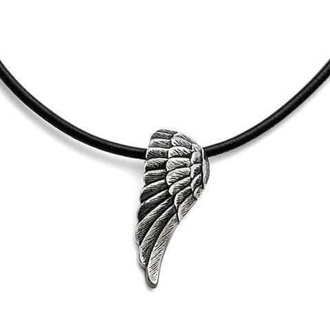 Stainless Steel Vintage Angel Wing Necklace - Cailin's