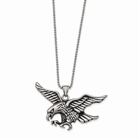 Stainless Steel Antique Eagle Necklace - Cailin's