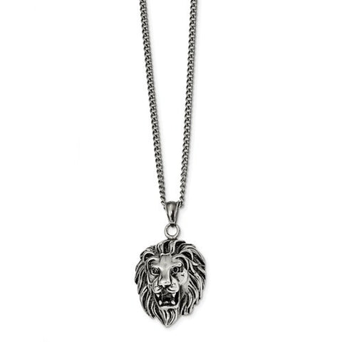 Stainless Steel Lion Head 24 inch Necklace - Cailin's