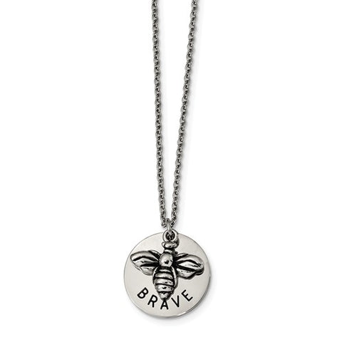 Stainless Steel Bumble Bee Brave Necklace - Cailin's