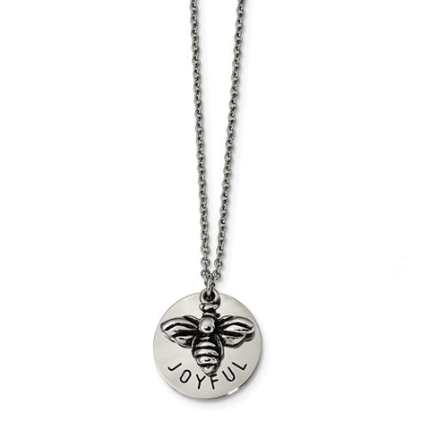 Stainless Steel Bumble Bee Joyful Necklace - Cailin's