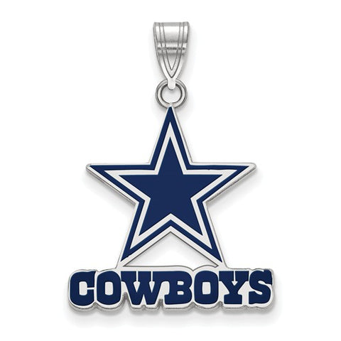 925 Sterling Silver dallas Cowboys NFL Football Necklace Charm - Cailin's