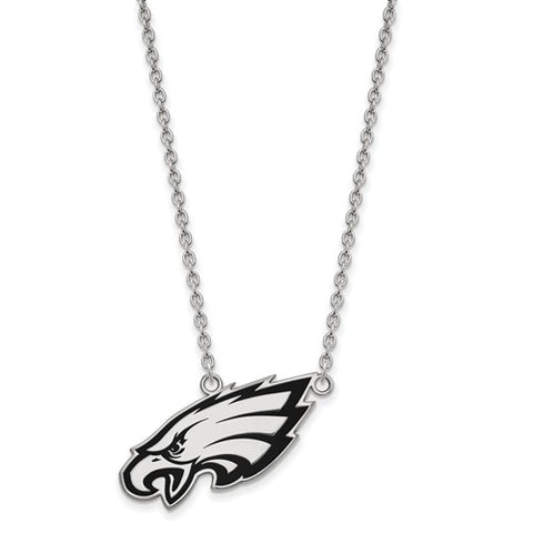 925 Sterling Silver Philadelphia Eagles Logo Charm Necklace - Cailin's