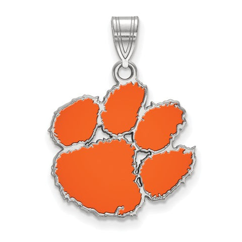 925 Sterling Silver Clemson Tigers Necklace Charm - Cailin's