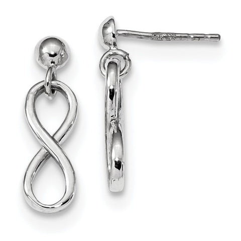 14K White Gold Fancy Infinity Post Earrings - Cailin's