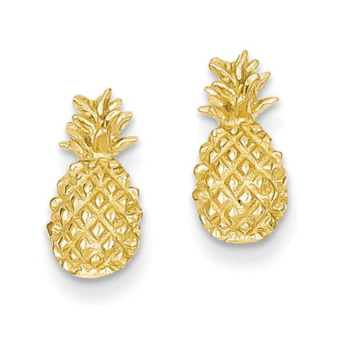 14K Yellow Gold Perfect Pineapple Post Earrings - Cailin's