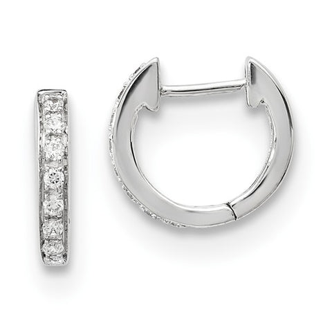14K White Gold diamond Elegant Earrings - Cailin's