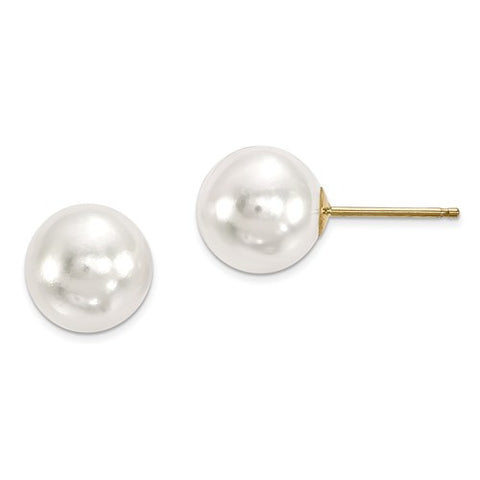 14k Yellow Gold Akoya Pearl Post Earrings - Cailin's