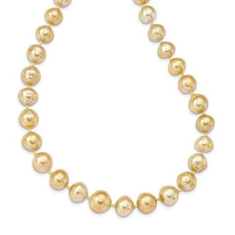 14K Yellow Gold Golden South Sea Pearl Necklace - Cailin's