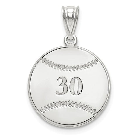 925 Sterling Silver Custom Name Baseball Necklace Charm - Cailin's