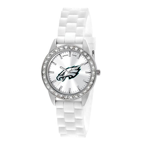 NFL Philadelphia Eagles Crystal Silicone Sparkle Lady Watch