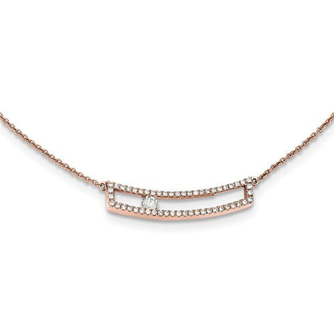 14K Yellow Gold Sliding 1/4 Carat Diamond Necklace - Cailin's