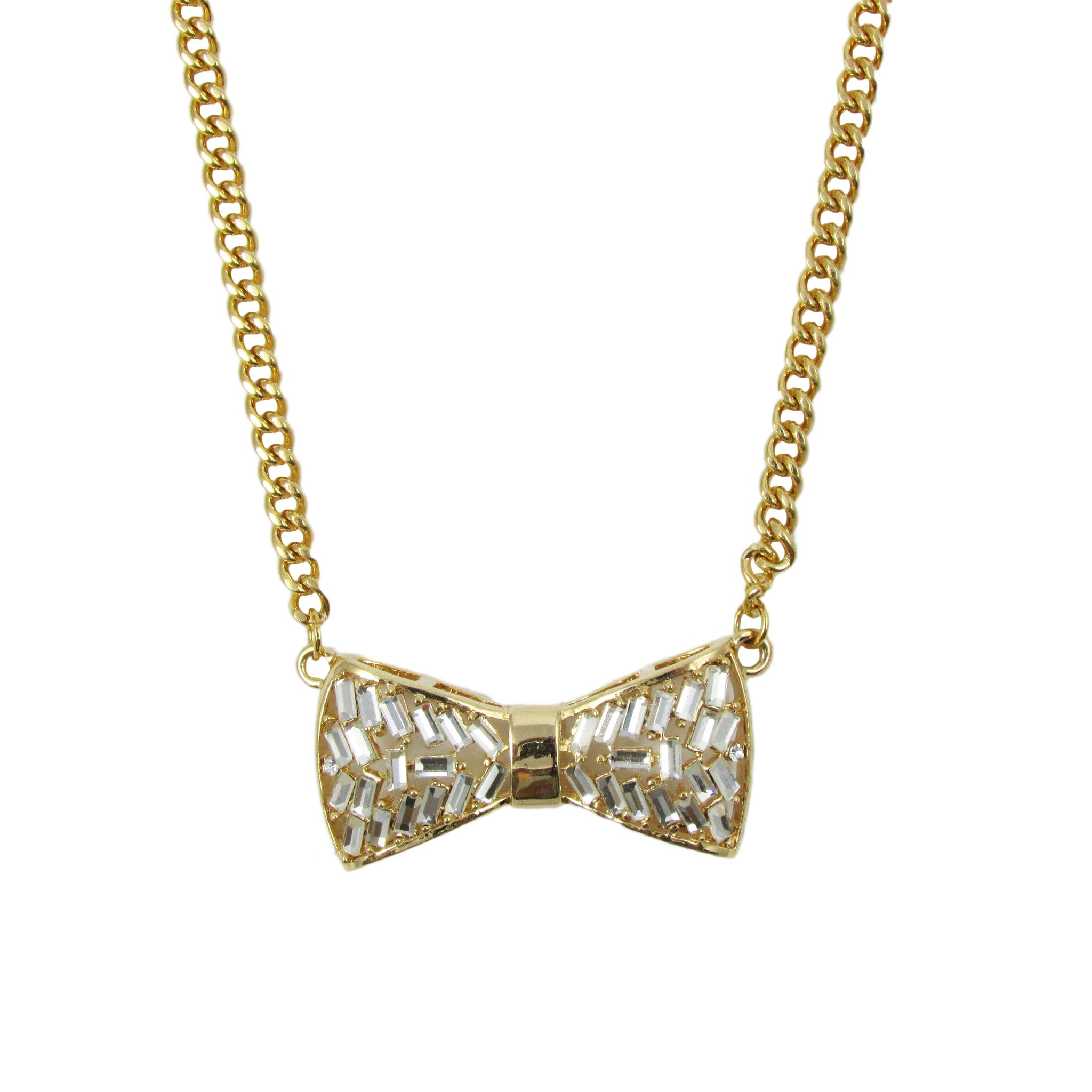 Short Chain Bow Necklace