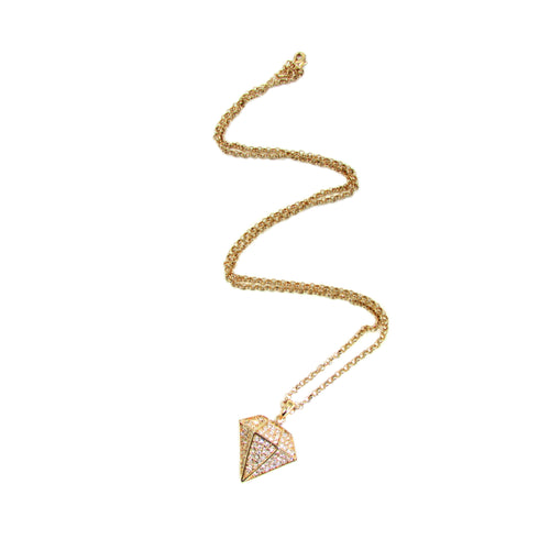 Diamond Minx Necklace | Gold
