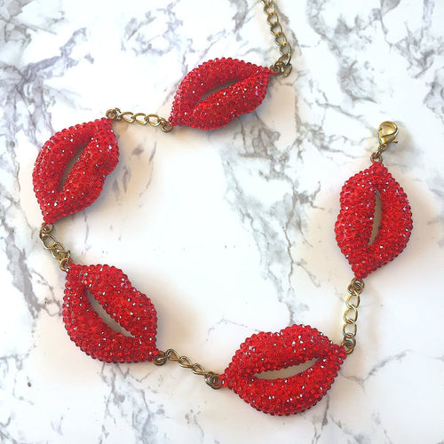 Multi Lips Necklace