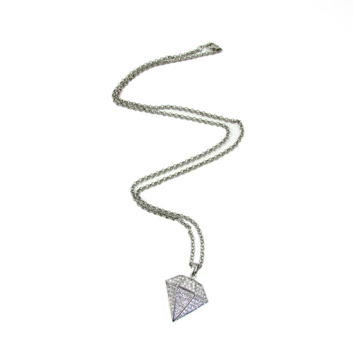 Diamond Minx Necklace | Gun Metal
