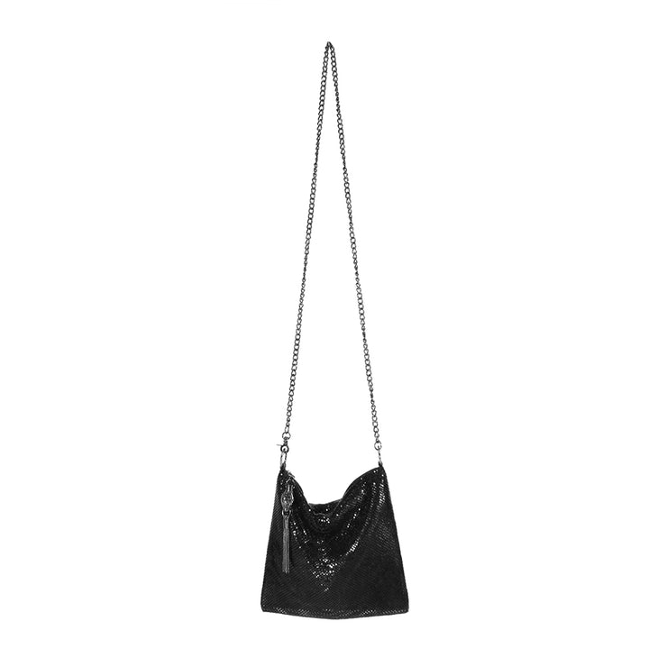 Ibiza Snakehead Crossbody in Black