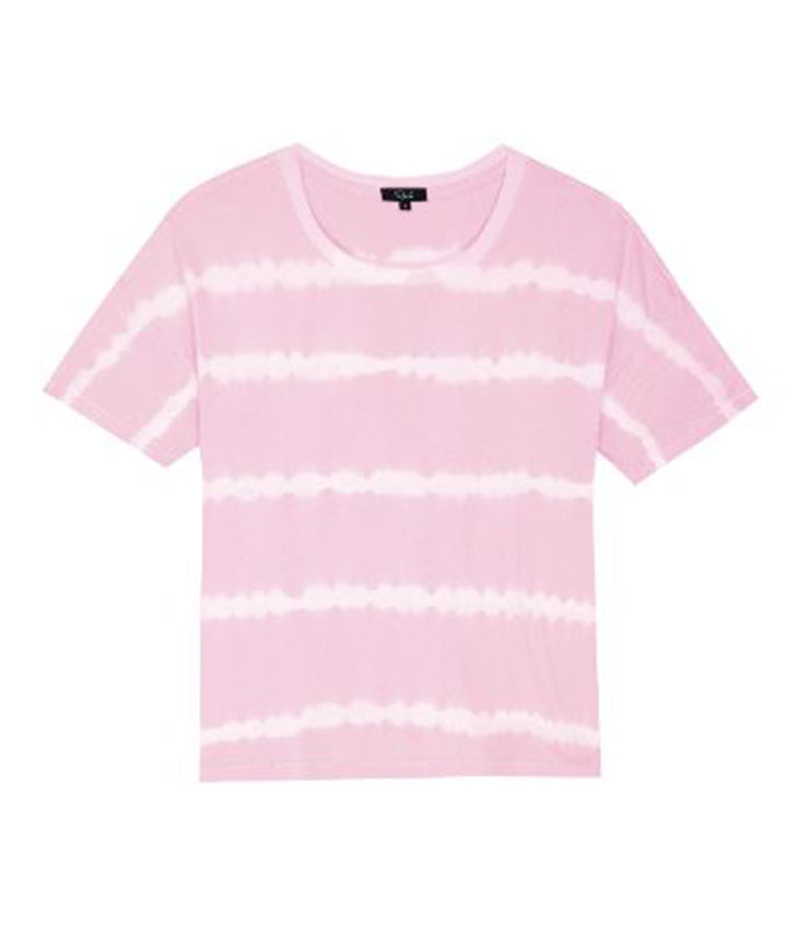 Roman Tee in Pink Waves Tie Dye