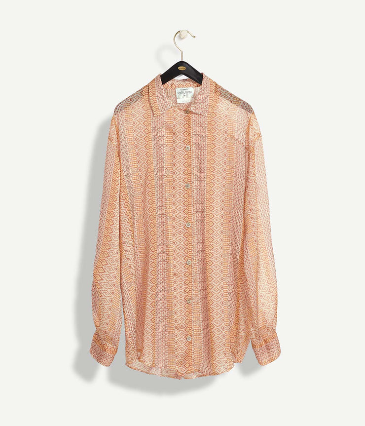 Mozaik Print Silk Over Shirt in The