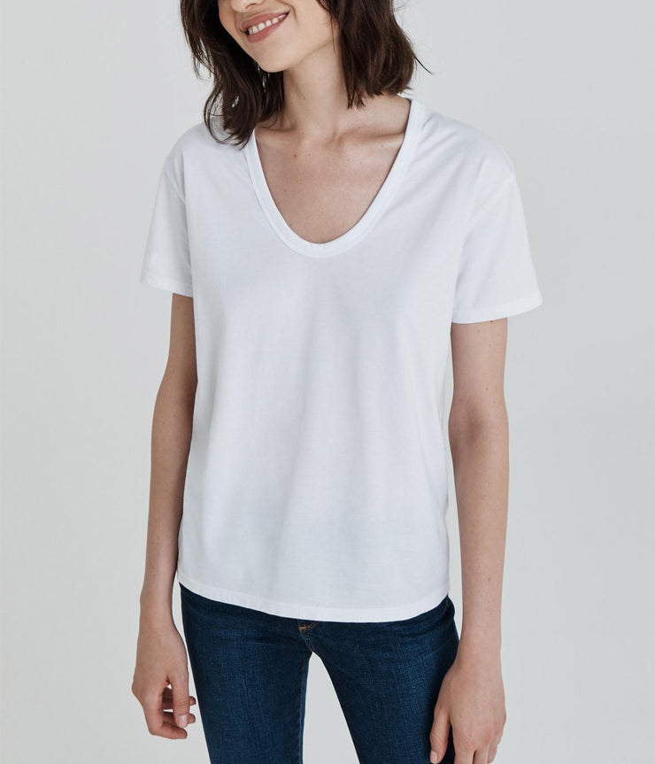 The Henson Tee in True White