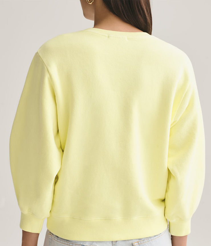 Balloon Sleeve Sweatshirt in Limoncello