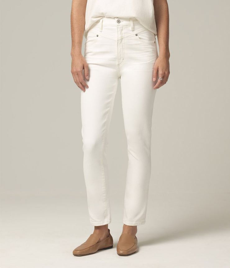 Mia Front Yoke Slim Jeans in Zen