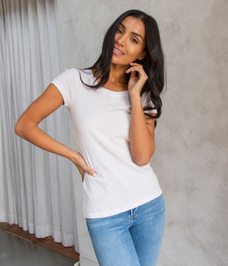 Cory Scoop Neck Top in Blossom