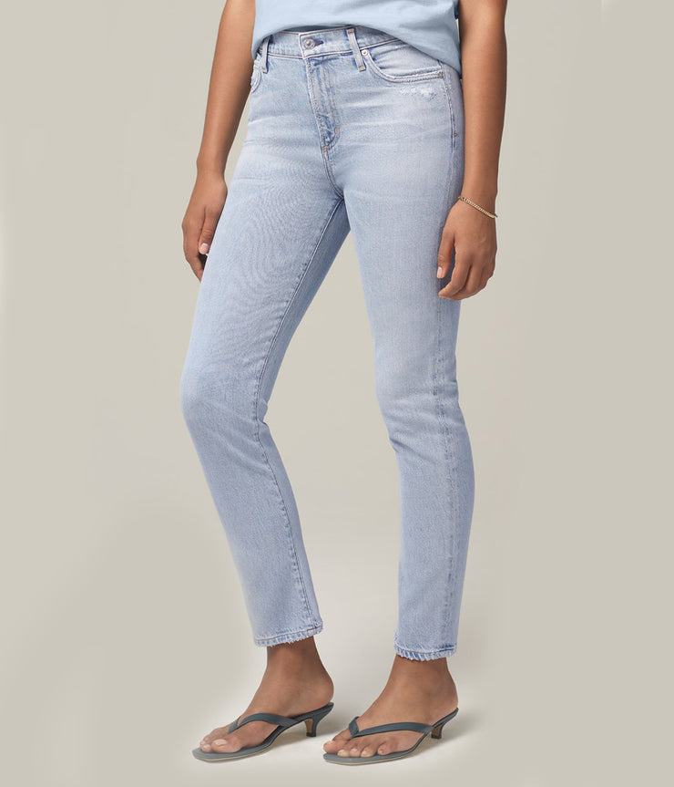 Harlow Ankle Mid Rise Slim Jeans in Imagine