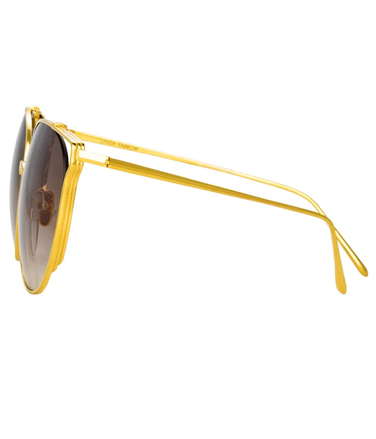 Joanna Sunglasses in Yellow Gold and Mocha Gradient