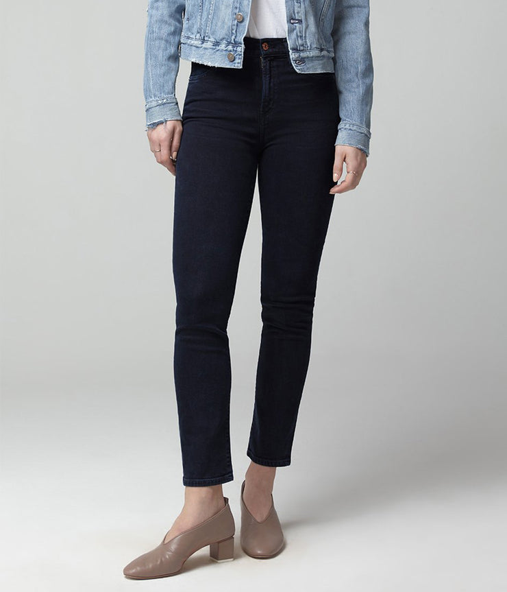 Harlow Mid Rise Slim Jeans in Inkwell