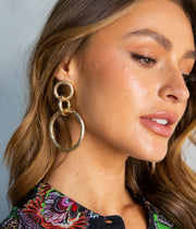 Wes Earrings in Yellow Gold