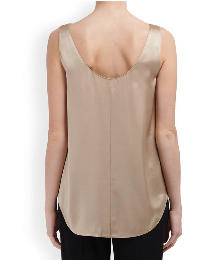 Satin Tank in Sand Dollar