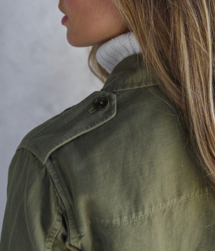 Wren Camo Green Military Jacket