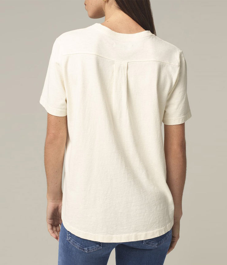 Lenu Back Pleat Shirt in Vanilla