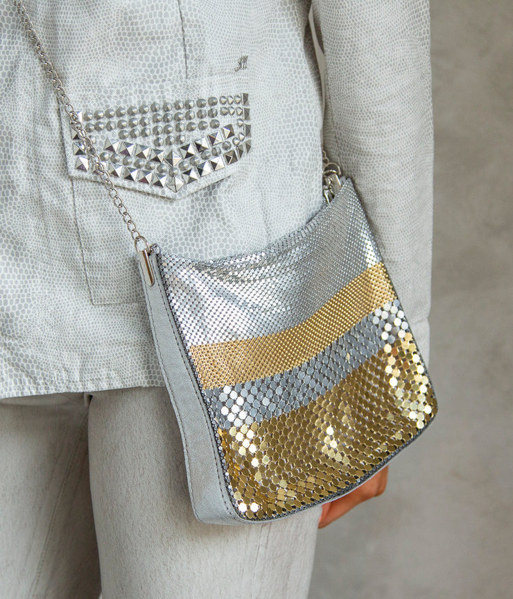 Odissea Party Bag in Silver and Gold