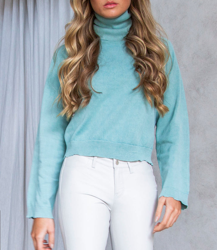 Mick Turtleneck in Acid Mint