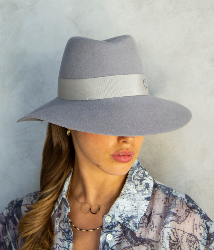 The Kate Felt Hat in Pearl Grey