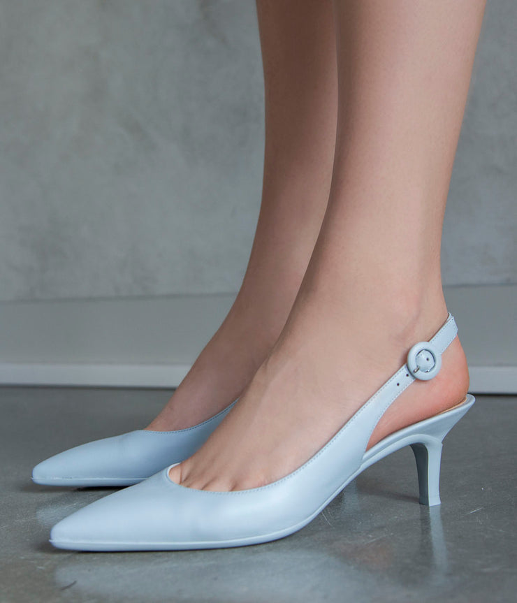 Vitello Slingbacks in Cloud