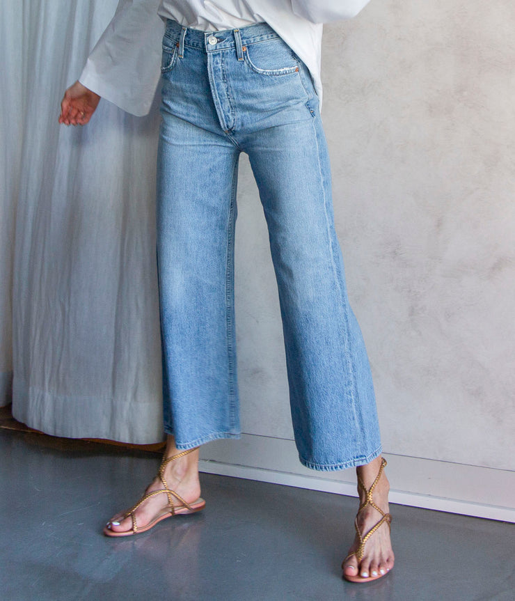 Sacha High Rise Wide Leg Jeans in Tularosa