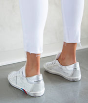 The Farrah Skinny Ankle Jeans in Unchartered White