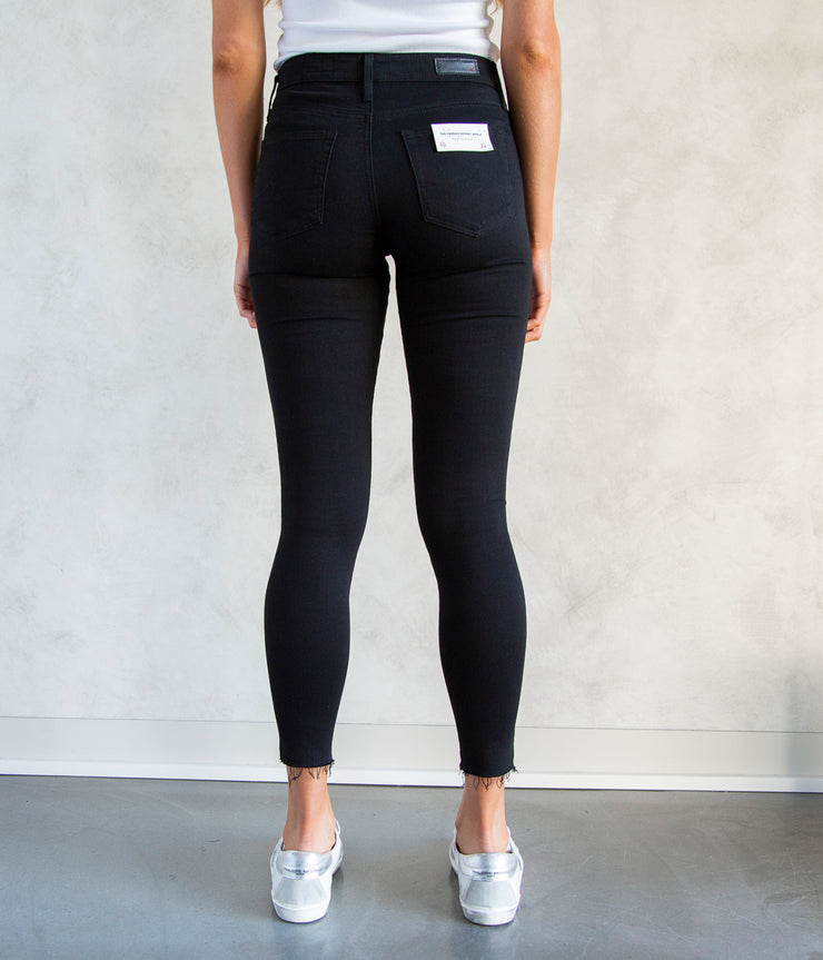 The Farrah Skinny Ankle Jeans in Black Ink
