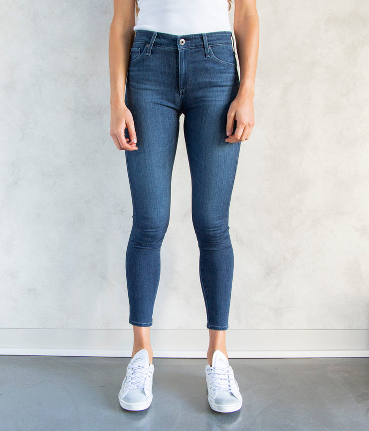 Farrah Skinny Ankle Jeans in Pacific Indigo